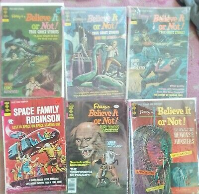 SIX BELIEVE IT NOT Gold Key Rare Early Comics VG Cond.