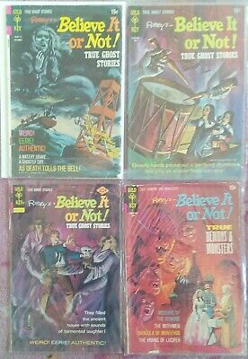 FOUR BELIEVE IT OR NOT Gold Key Rare Early Comics VG Cond.