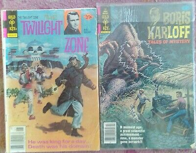 FOUR MIXED HORROR Gold Key Rare Early Comics VG Cond.