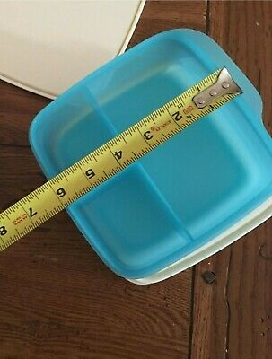 TUPPERWARE Lunch-It® Perfect Portion Divided Dish w/Seal FREE US SHIP Cool Aqua