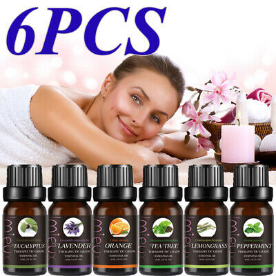 Top 6 Essential Aromatherapy Oils Natural 10ml Oil Fragrances Christmas Gift UK