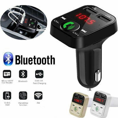 Handsfree Wireless Bluetooth Car Kit FM Transmitter MP3 Player USB Charge 2019