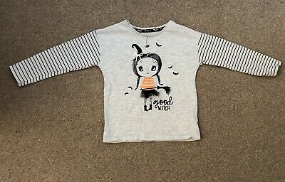 Girls Halloween T Shirt 18-24M Mothercare Excellent Condition