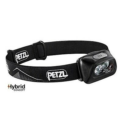 PETZL - ACTIK CORE Headlamp, 450 Lumens, Rechargeable, with CORE Battery Black