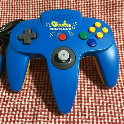 Nintendo 64 Controller Pokemon Pikachu Version Blue Rare Used N64