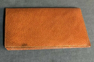 Vintage Tan Leather Real Leather Wallet Made in England
