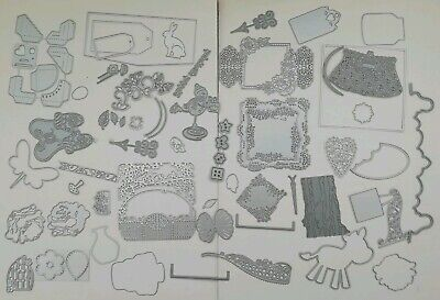 Bundle Job Lot of Over 55 ++ Cutting Dies Tattered Lace Tonic Die'Sire