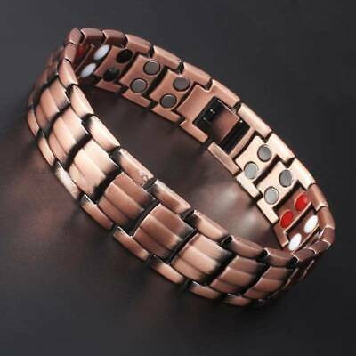 Magnetic Therapy Bracelet Therapeutic Energy Healing Stainless Steel Bangles New