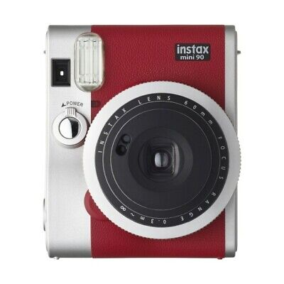 Fujifilm Instax Mini 90 Red - PRO Camera Bundle - Camera, Case , Film & Album