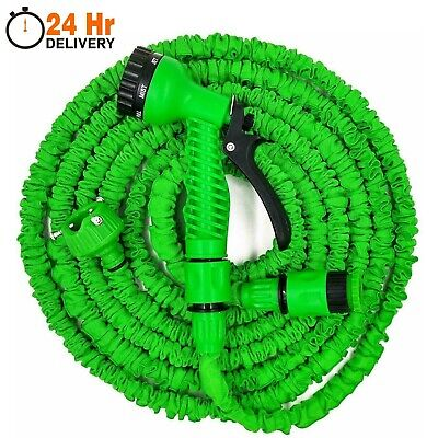 Garden Hose Pipe Extra Long Expandable Water Spray Gun Flexible Magic 50FT-200FT