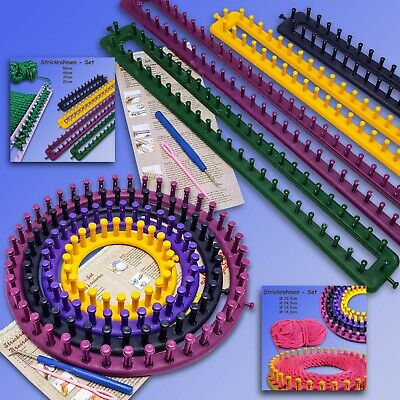 Knitting Loom Set, Embroidery Ring, round O.Square, Instructions Needle Hook