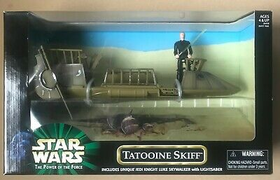 (Vintage) Star Wars 1999 Tatooine Skiff Power Of The Force POTF MISB 2 Available