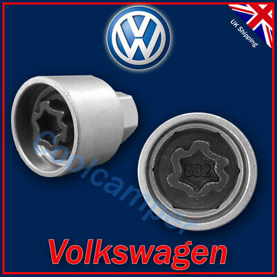 Volkswagen Security Master Locking Wheel Nut Key 532 N 17mm VW Golf Passat T4