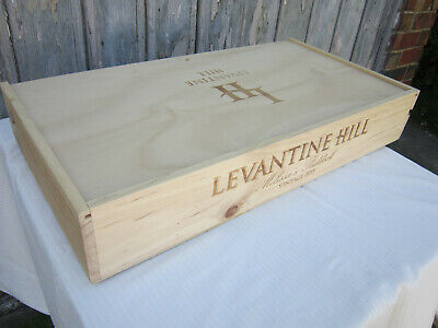 Wooden Wine Box Levantine Hill 6 Bottle Capacity Collectable