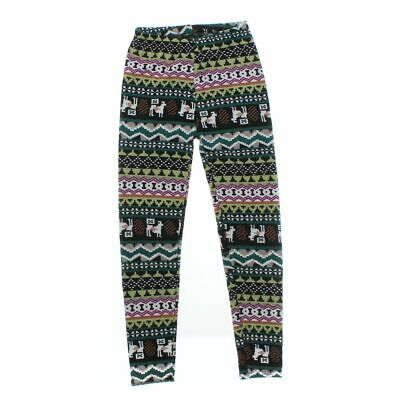 Qicaisi Girls Leggings size JR 3,  multi colored,  cotton, polyester