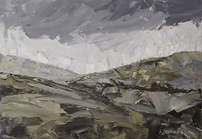 Snowdonia Welsh Mountains ORIGINAL OIL PAINTING Steve Greaves Wales Kyffin Art