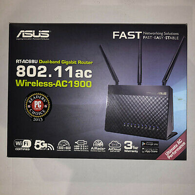 Asus RT-AC68U AC1900 1900Mbps Dual Band WiFi Wireless Gigabit Router, Used