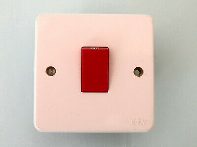 Tenby Glacier Neon Unused 7777-45a 2 Gang Double Pole Switch