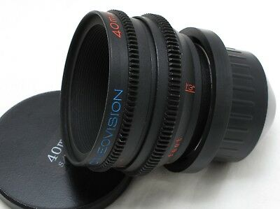 Cineovision 40mm T2.1 PL mount Lens Rehoused Olympus Pen RED ARRI SONY EXC