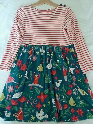 Mini Boden Hotchpotch Jersey Dress 12 Days of Christmas Age 5-6
