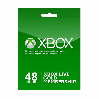 Xbox Live 48 Hours Gold Trial Membership Code 2 days Xbox One & 360 Fast Deliver