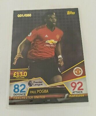 2018/2019 Topps Match Attax Ultimate 18/19 - Paul Pogba (Manchester United) /50