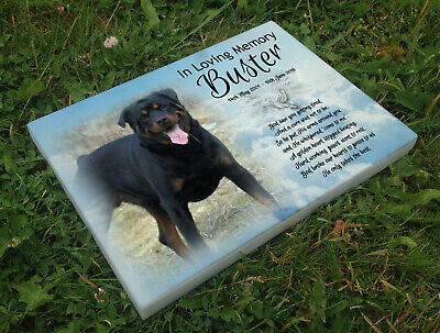 Personalised grave headstone memorial plaque dog Rottwieler or any breed
