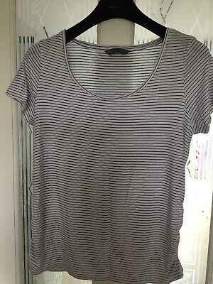 Maternity Top Blooming Marvelous Mothercare Black & White Stripes Size L 12-14