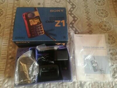 Sony Cmd Z1 Vintage Phone Complete Boxed Rare Collectible