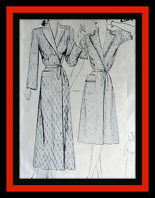 ROBE Housecoat RARE Vintage 1930's Junior Miss Butterick 2294 Fabric Sew Pattern