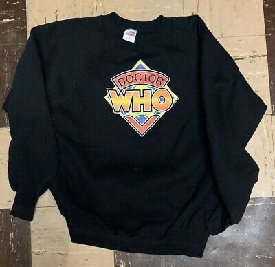 vtg 80's DOCTOR WHO crew neck 1982 sweatshirt XL BBC British Sci Fi TV PROMO OG