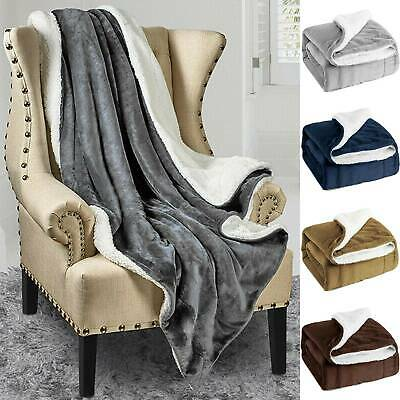 Bedsure Sherpa Blanket Fleece Warm Bed Couch Soft Plush Sofa Throw Home King New