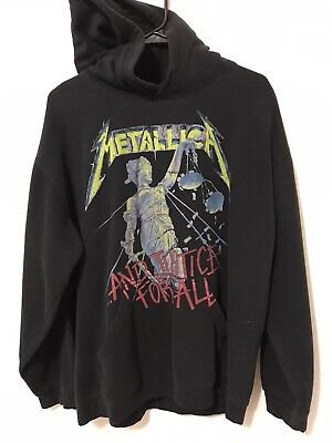 2007 Metallica And Justice For All Hoodie Men's Size L Black