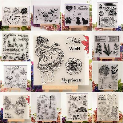 20 Styles Silicone Clear Rubber Stamps Seal Scrapbooking Craft Diary Album H3Q1