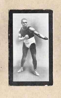 SAM LANGFORD UK Issue Cohen Weenen Boxing Black Back Boxers Trading Card No. 12