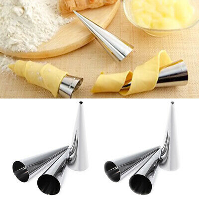 477B 6 Pcs/Pack Horn Baking Tool Bar Cooking Creative Spiral Pastry Mold