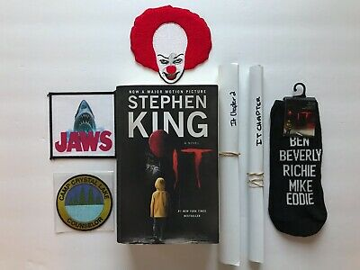 Stephen King's It Book, Chapter Two Movie Posters, Socks & Horror Movie Patches!