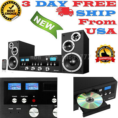 Innovative Technology Bluetooth Home Speaker Stereo System CD FM Radio Aux Play