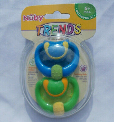 Nuby Pastels Classic Oval Pacifier Model 5721 Lfs 2-Pack Size 12 Months