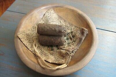 Wooden Bowl, Candle Bag, Candles, Farm, Country, Primitive