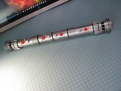 """Hasbro Star Wars 2011 Darth Maul Non Electronic Double Bladed 62"""" Lightsaber"""