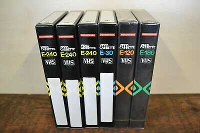 Six New Unused  NORDMENDE VHS Cassette Tapes Varying Time Lengths