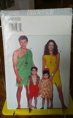 Butterick 3589 Halloween costume pattern only kids adult caveman all sizes NEW
