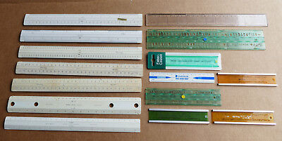 Bulk Lot Vintage W&G Faber Castell RULERS LETTERING STENCILS Technical Drawing