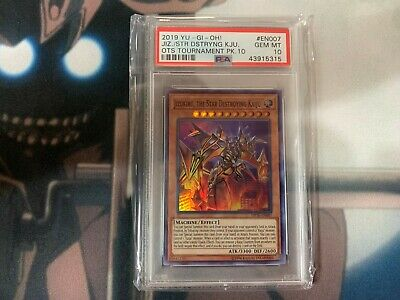 Yu-Gi-Oh! Jizukiru, The Star Destroying Kaiju Super Rare PSA 10 OP10-EN007