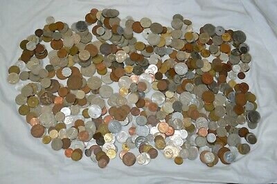 3 Kg Foreign Coins - UK,Europe,USA,NZ,Asia & Others.