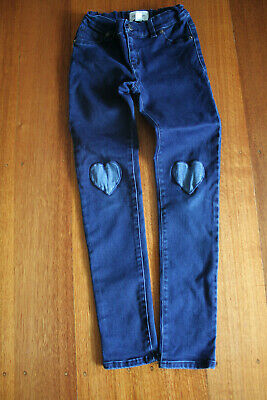 Girls CR Country Road Jeans Heart Patches 10