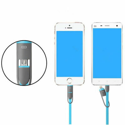 2 in 1 Micro USB Charging Cable Data Sync Charger Cable for iPhone X Android