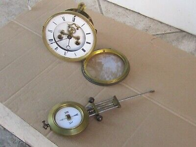 Аntique French Brocot Clock Movement with Pendulum - Works