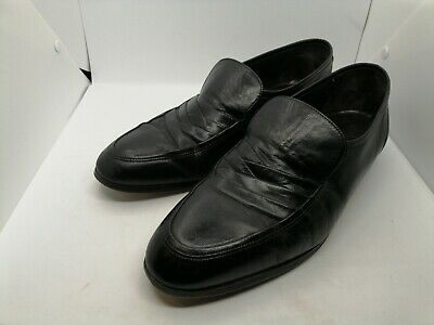 Mens Lotus Black Leather Shoes Size Uk 11